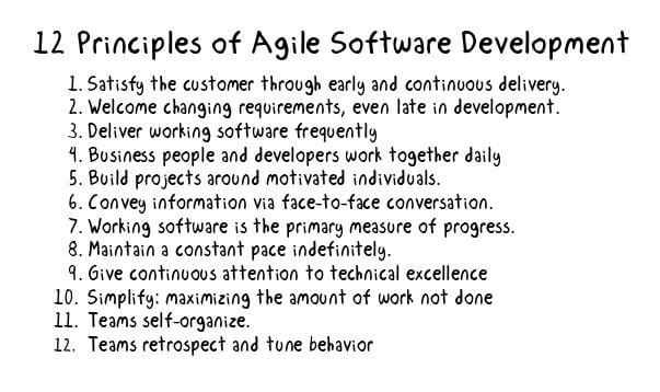 What is Agile 12 principles?