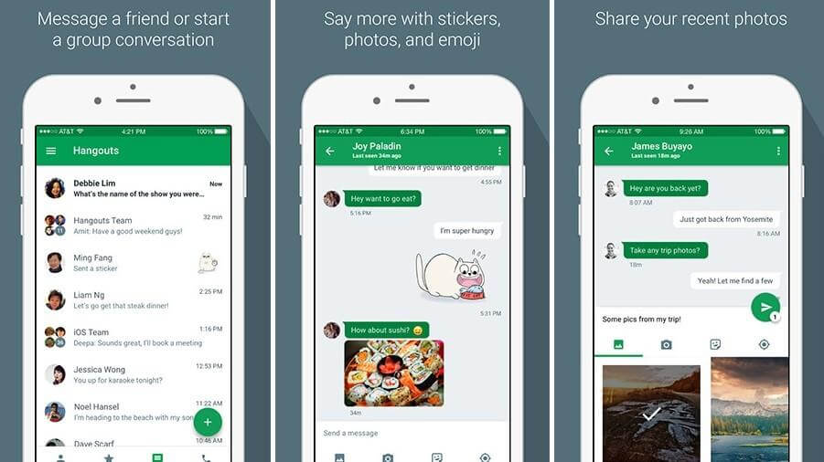 Hangouts app for PM needs