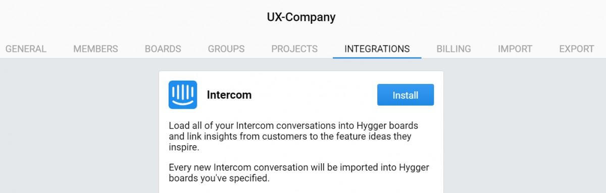 Intercom integration, Hygger update