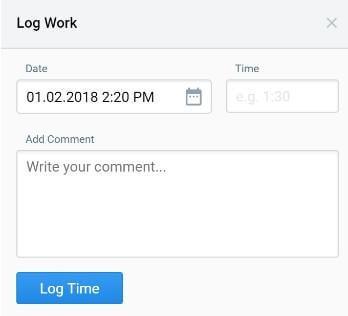 Log work, Hygger feature